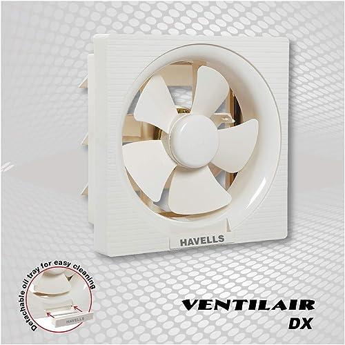 10. Havells FHVVEDXOWH10 Ventil Air Dx 35-Watt 250mm Fan (Off White)