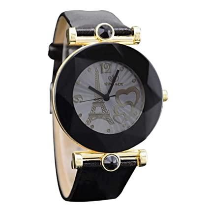 Fashion Women Watches Twelve Spires Love Eiffel Tower Insert Women Digital Quartz Watch Clock Ladies Watch