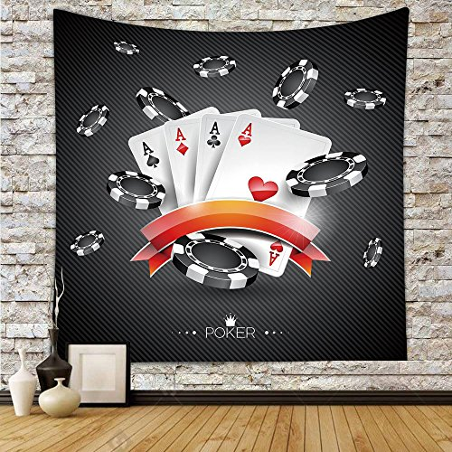 Used, iPrint Polyester Tapestry Wall Hanging,Poker Tournament for sale  Delivered anywhere in Canada