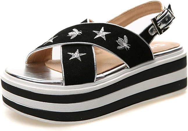 sandale fashion plateforme noire