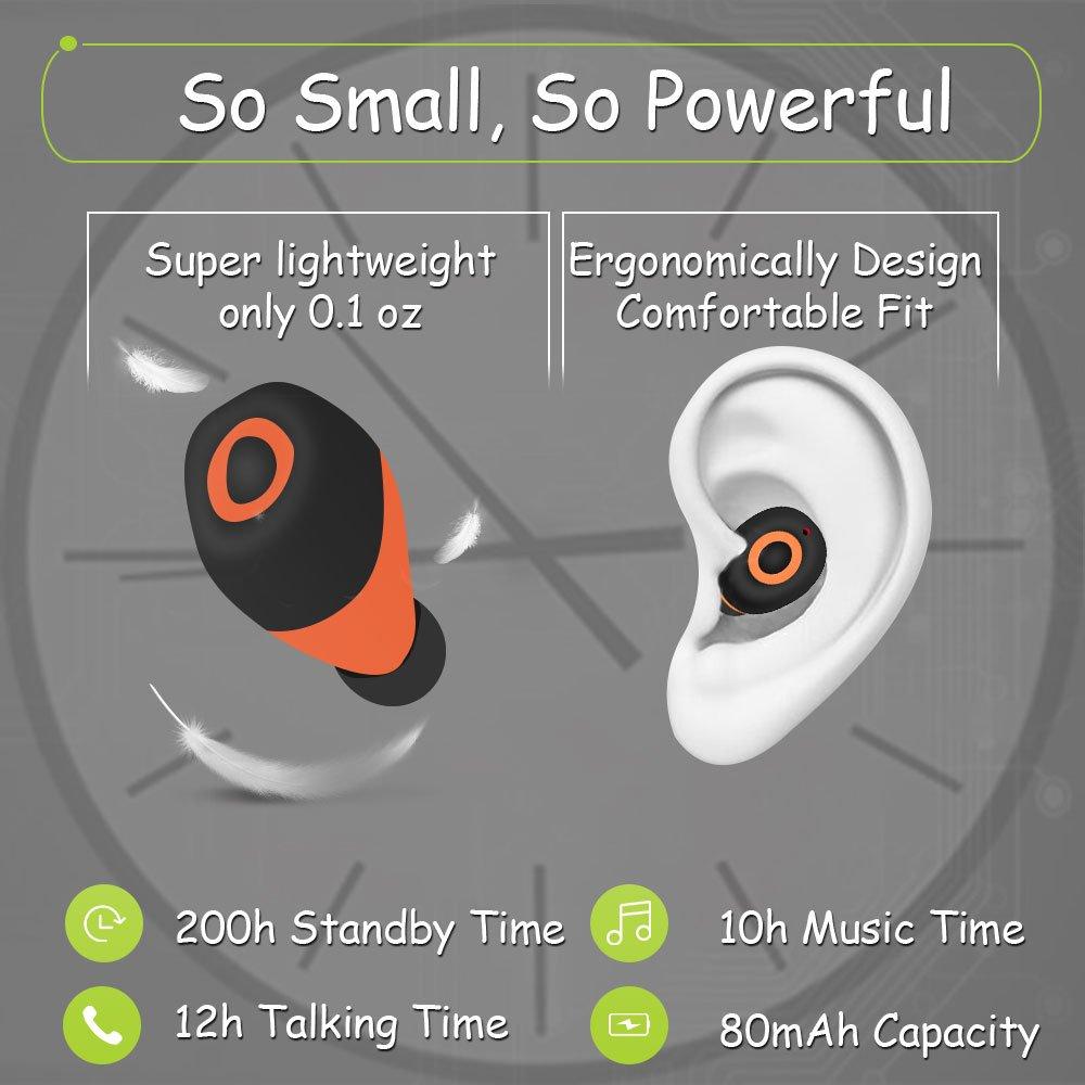 Bluetooth Earbud Mztdytl Wireless Headphone Smallest Headset 41 Handsfree Headphones Mini L1 Sj0048 V41 Stereo Invisible In Ear Earphone 12 Hours Talking Time Sweatproof Car