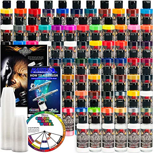 Createx 66 Wicked Colors 2oz Complete Colors Airbrush Paint Set