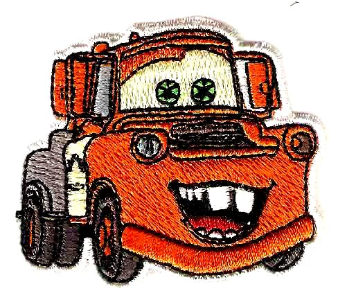 MATER the Tow Truck in Cars Pixar Disney Movie Embroidered Iron On / Sew On Patch