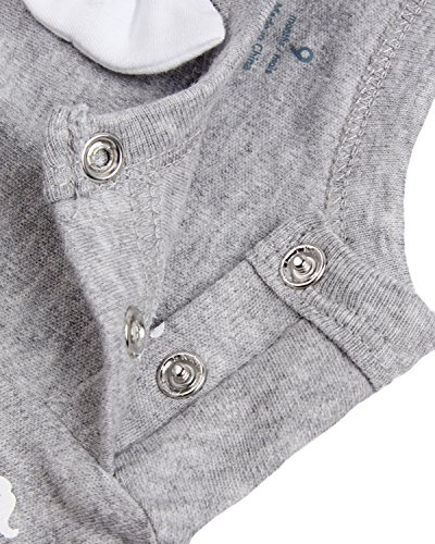Kidsform Toddler Baby Unisex Organic Cotton Romper Footless Bodysuits Playsuit Coveralls Grey 9M