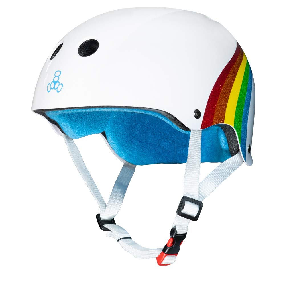 Triple Eight Certified Sweatsaver Casque (XS-S - Rainbow Sparkle)
