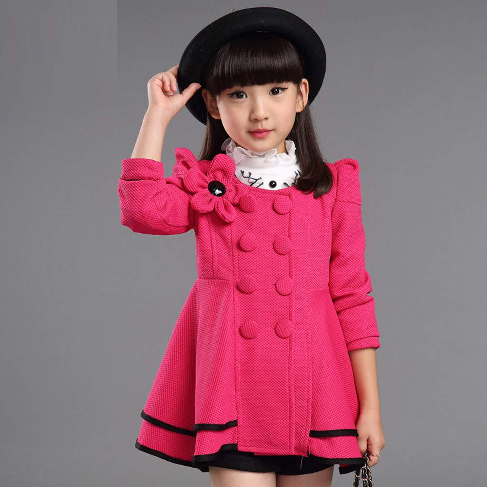 FORESTIME Children Baby Girls Fashion Flower Coat Jacket Outerwear Clothes Party Dress Gift