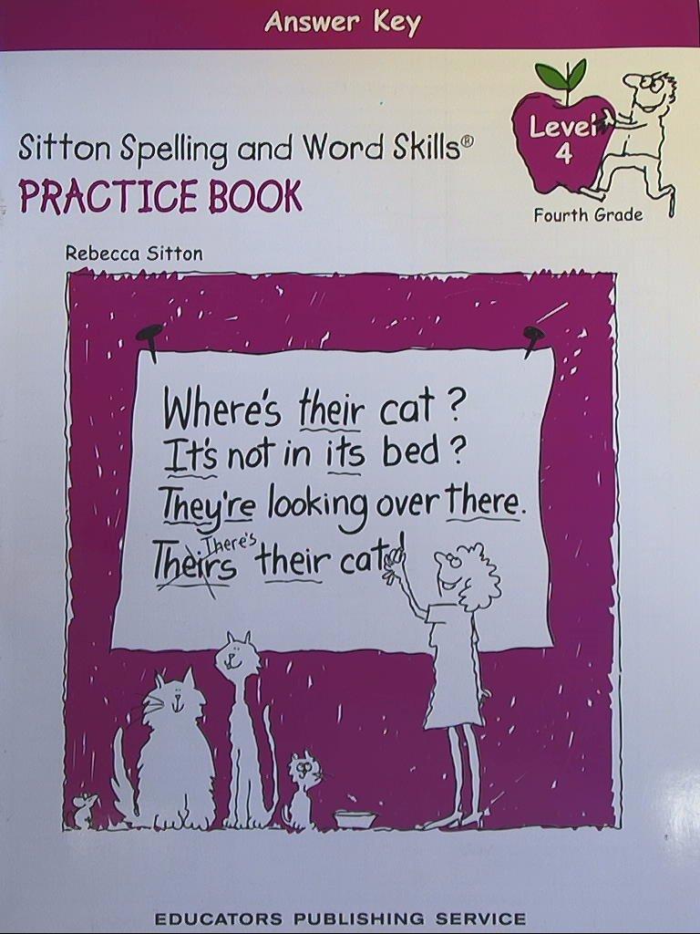 Workbooks harcourt math grade 4 practice workbook answers : Sitton Spelling, Student Practice Book Grade 4, Answer Key: Not ...