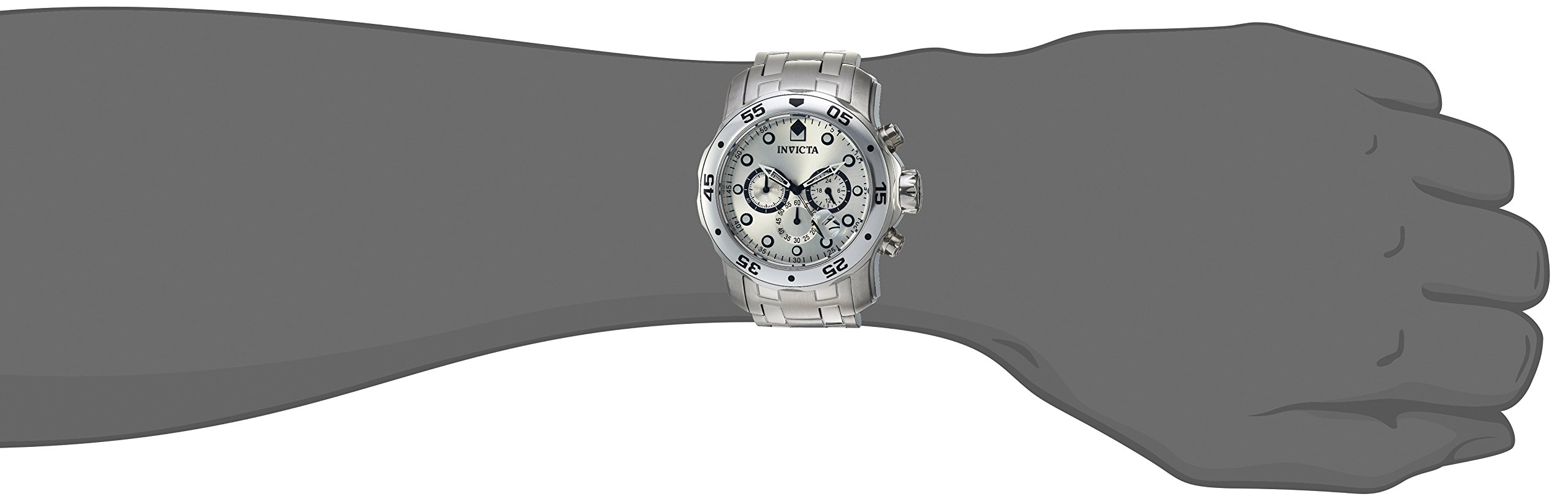 1ad87cdd7 Invicta Men's 0071 Pro Diver Collection Chronograph Stainless Steel Watch