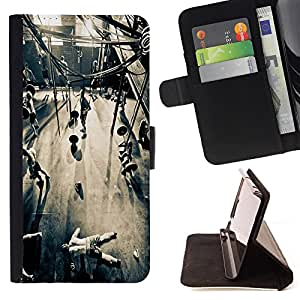 Dragon Case- Caja de la carpeta del caso en folio de cuero del tir¨®n de la cubierta protectora Shell FOR Samsung Galaxy S3 MINI I8190- Never Hit Soft Boxing