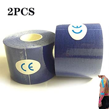 HONGFAN 2Pcs 5Cm X 5M Kinesiology Tape Athletic Muscle Support ...