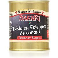 SAKARI Txistu Jambon de Bayonne Fourré au Foie Gras 130 g - Lot de 2
