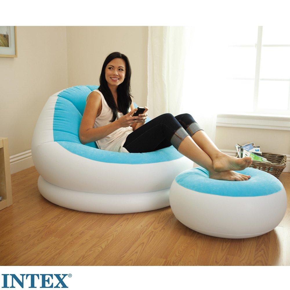 INTEX sillón con ropa, turquesa, flocado asiento, grosor de ...