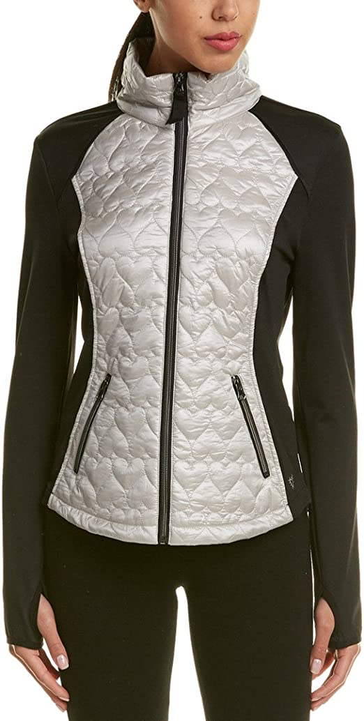 Betsey Johnson -chaqueta de chándal Mujer plateado Metallic ...