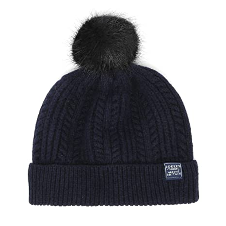 23142817b1f Joules Bobble Hat Blue One Size  Amazon.in  Sports