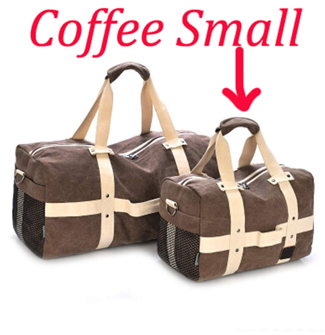 Men Travel Large Capacity Luggage Duffle Bags Canvas H bags For Trip Folding Bags Coffee Large