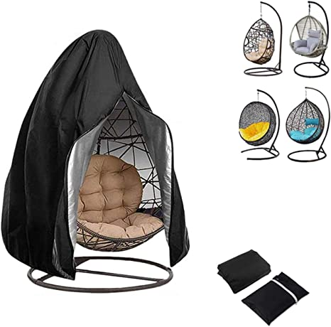 Hanging Chair Cover Waterproof Egg Shaped Chair Sleeves with Drawstring Closure Patio Swing Chair Protective Dust Cover