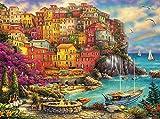 Buffalo Games - Chuck Pinson - A Beautiful Day at Cinque Terre - 1000 Piece Jigsaw Puzzle