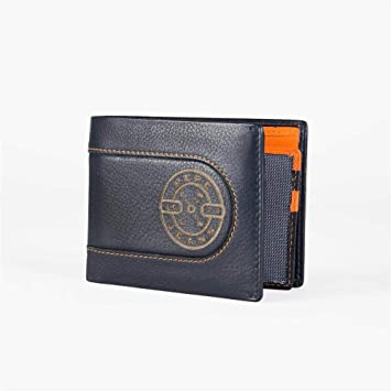 Billetera Pepe Jeans Burned horizontal con Billetera extraible Azul