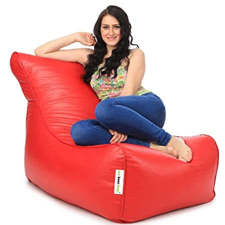 can bean bags Classic Lounger Bean Bag Cover Without Beans   Red Bean Bags, Covers   Refills