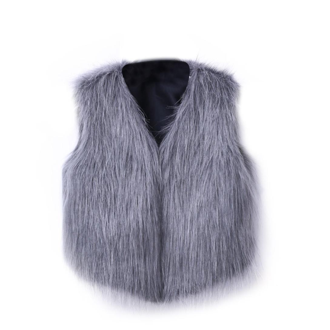 Intimates Tanks,Lookatool Women's Warm Faux Fur Vest V-Collar Waistcoat Jacket