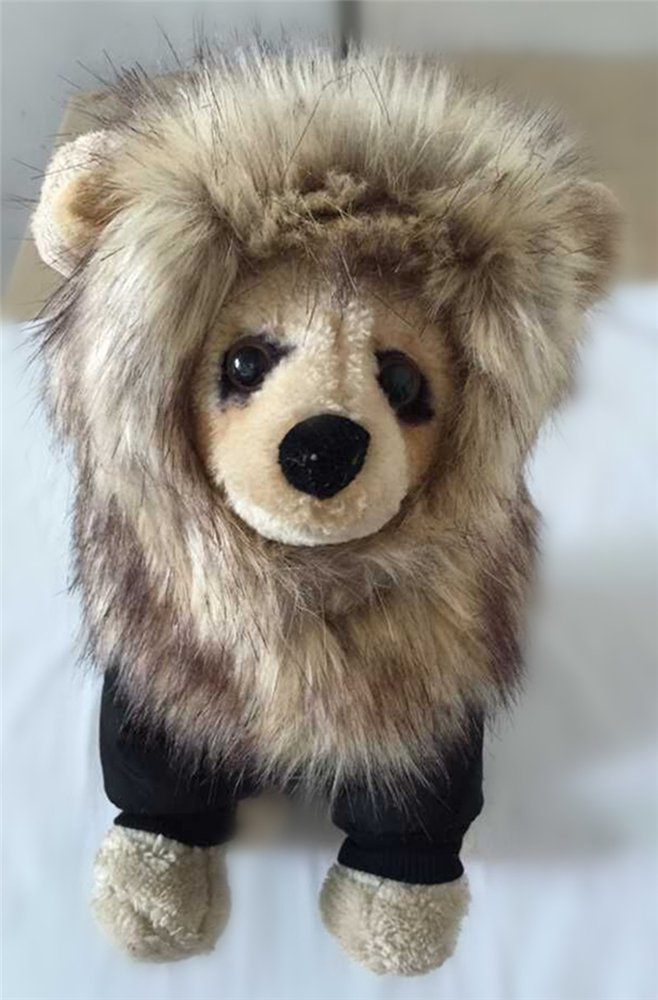 Dog Lion Mane Wigs Costume Cosplay Hair Party Fancy Dress Pet Cat Toy by ISHOWStore (Image #6)