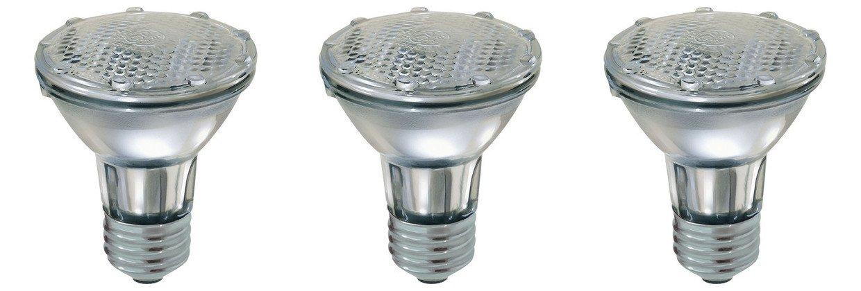 Par 20 3 Pack FL25 35PAR20/FL 35 Watt Halogen Spot Light Bulb Replacement 120V 130V Base Flood Beam Lighting Range Hood Oven PAR20 Reflector Excel Bulbs DL Kitchen Bathroom Ceiling Can Lamp 35W E26 3P