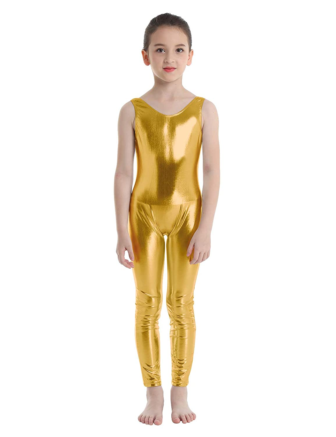 Amazon.com: moily Kids Girls Metallic Full Length Body ...