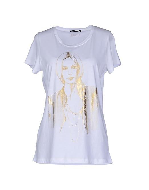Pinko T-Shirt Stampa Donna in Oro (S)  Amazon.it  Abbigliamento 5fd968cb755