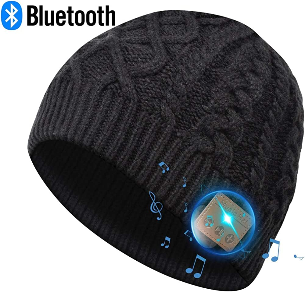 EverPlus Bluetooth Beanie Hat, Gifts for Men, Women with Wireless Bluetooth 5.0, Winter Hat Built-in Detachable HD Stereo Speakers & Microphone, Unisex Music Beanie for Outdoor Sports