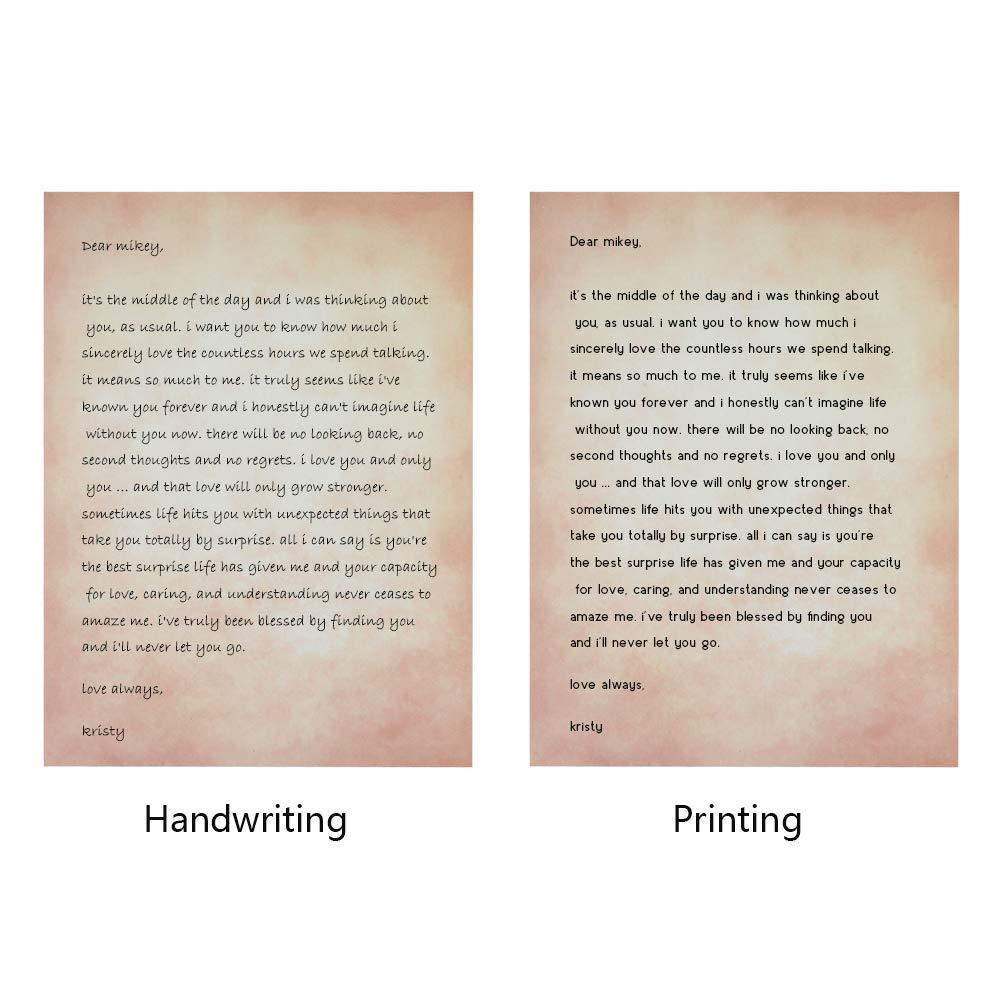 A4 Beidseitig Altes Papier Edle Briefpapiere im Vintage Look im Set 100g//m/² Briefpapier Vintage Zum Schreiben und Drucken LATERN 50 Blatt Briefpapier Altes Papier Vintage