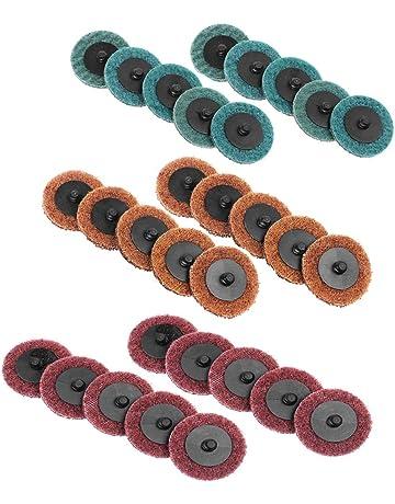 Disc Pad support avec 1//10,2/cm 50/mm avec tige 6.35/mm 5P fin//5/Medium//5//épais + 1/pi/èce 5,1/cm M/élange Roloc Rouleau Outil rotatif pon/çage polissage SC-DH