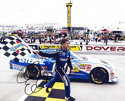 Autographed 2011 Carl Edwards  60 Fastenal Racing Dover Win  Nationwide Series  Roush 8X10 Picture Signed Nascar Glossy Photo With Coa