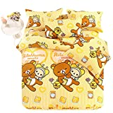 Jam Bear Bedding Sets - Sport Do Cartoon 100% Cotton Children Home Textiles Best Birthday Gift Fitted 4PC