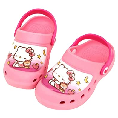 68b1b4cf4 Joah Store Girls Pink Slippers Clog Mule Hello Kitty Beach EVA Shoes  (Parallel Import/