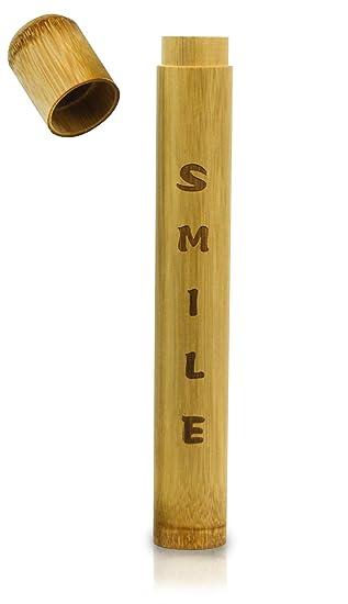 Cepillo de dientes Premium Carcasa De Bambú - perfecto para viajes - Respetuoso con el medio