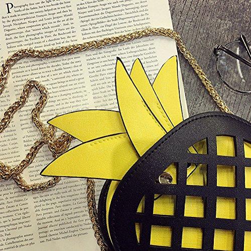 la Bolso PU negro de Bolsa de Amarillo Navidad Bolsa Regalo Cuero Bolsa Diferente mensajero Crossbody de Piña hombro cluth Mujeres de YSZ4X