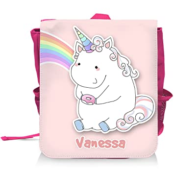 Kinder-Rucksack mit Namen Vanessa und schönem Motiv - Einhorn mit ...