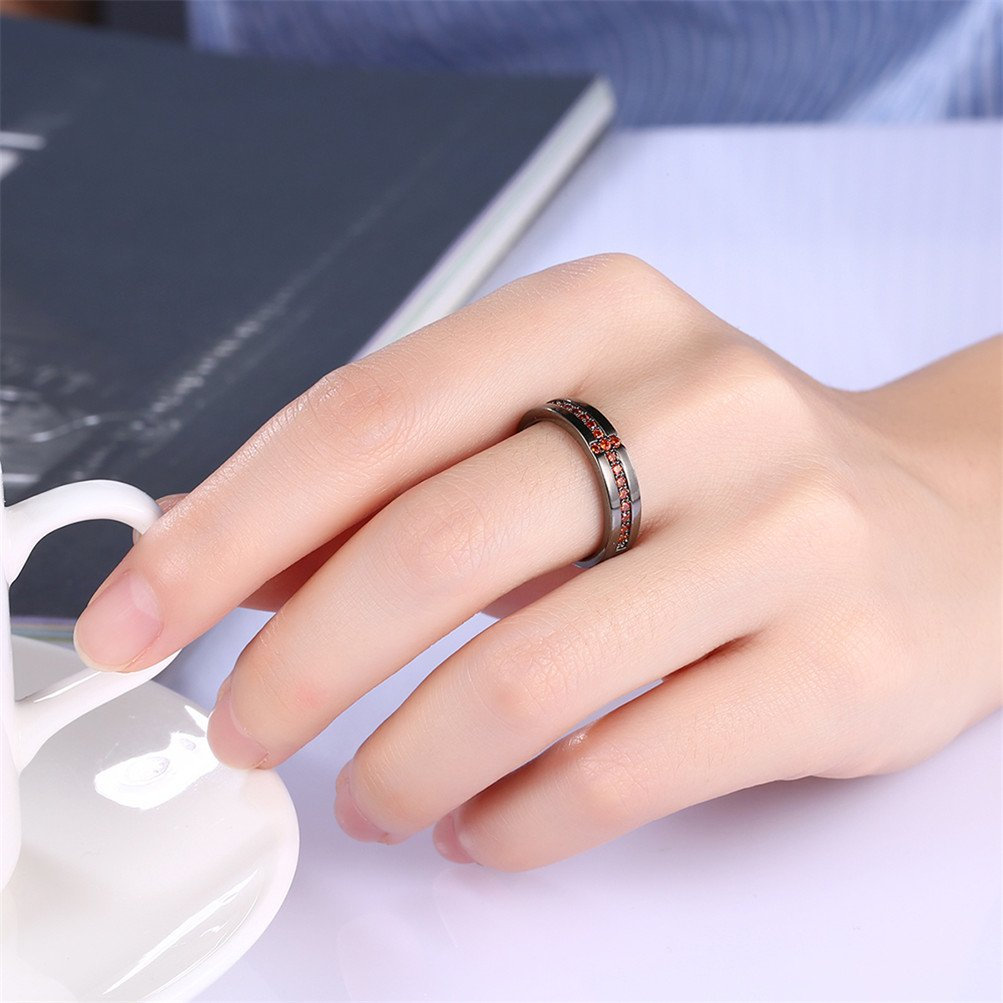 Black Infinity Love Knot Cross Christian Ring Wedding Band 18K Gold Plated Gift For Lover by Mrsrui (Image #5)