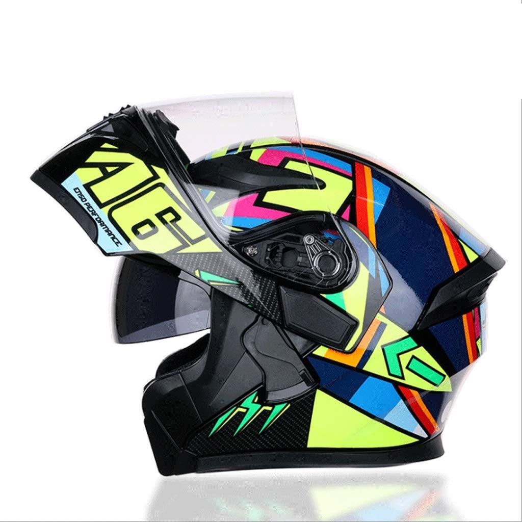 サイクリングレーシングヘルメットモトクロス男性と女性アウトドアフルヘルメットマウンテンバイク安全ヘルメット (色 : B, サイズ さいず : L l) B07PJVCZ7M XX-Large|C C XX-Large