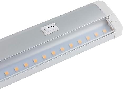 SEBSON® LED bajo mueble 60cm, tira de iluminación, Calido Blanca ...
