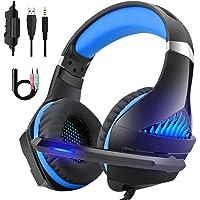 DeepDream Gaming Headset für PS4 Xbox One, Gaming Kopfhörer mit Mikrofon Stereo Sound Noise Isolation und Lautstärkeregler für PC Laptop Mac Smartphone