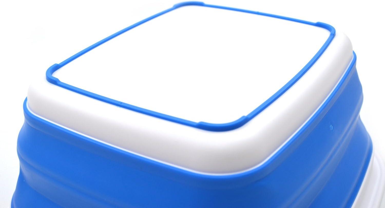 Foldable Dish Tub Space Saving Plastic Washtub Blau, klein Portable Washing Basin SAMMART 7,7L Collapsible Tub
