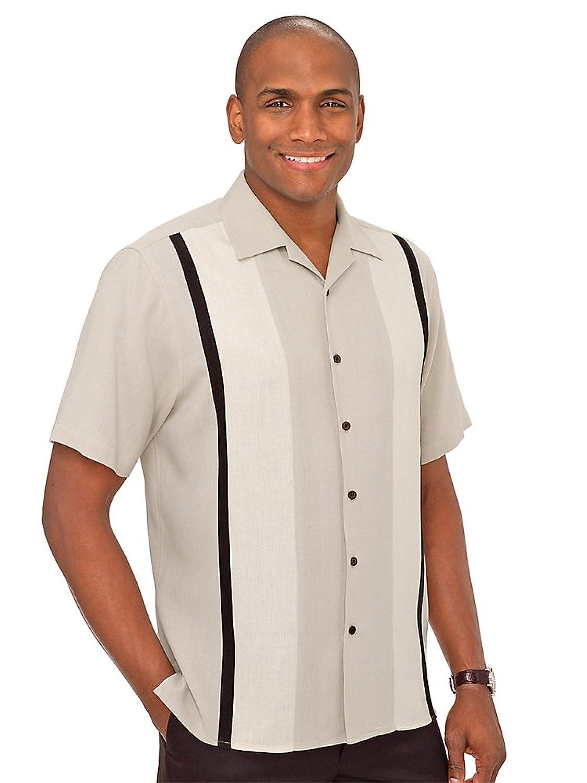 1950s Style Mens Clothing Paul Fredrick Mens Silk Panel Sport Shirt $84.95 AT vintagedancer.com