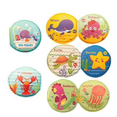 Boddenly Floating Baby Bath Books, Kids Learning Bath Toys, Waterproof Bathtime Toys for Toddlers, Kids Educational Infant Bath Toys, Bath Books with Bath Squirt Toys Soft Waterproof Books: Home & Kitchen