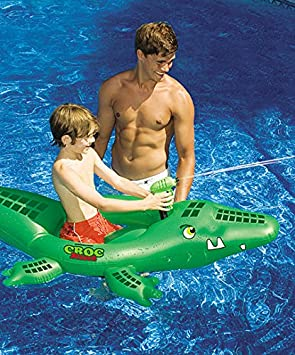 Pool Fun Pool Intex Giant Gator Ride River Float Floatie Alligator Green 80x45 crocodile Yard, Garden & Outdoor Living