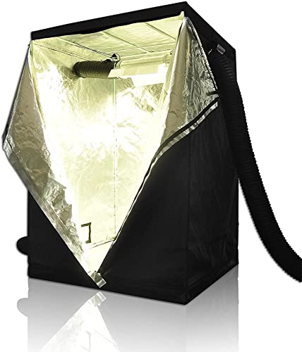 LAGarden 48 x48 x78 100 Reflective Diamond Mylar Hydroponics Indoor Grow Tent Non Toxic Planting Growing Room 4x4Ft
