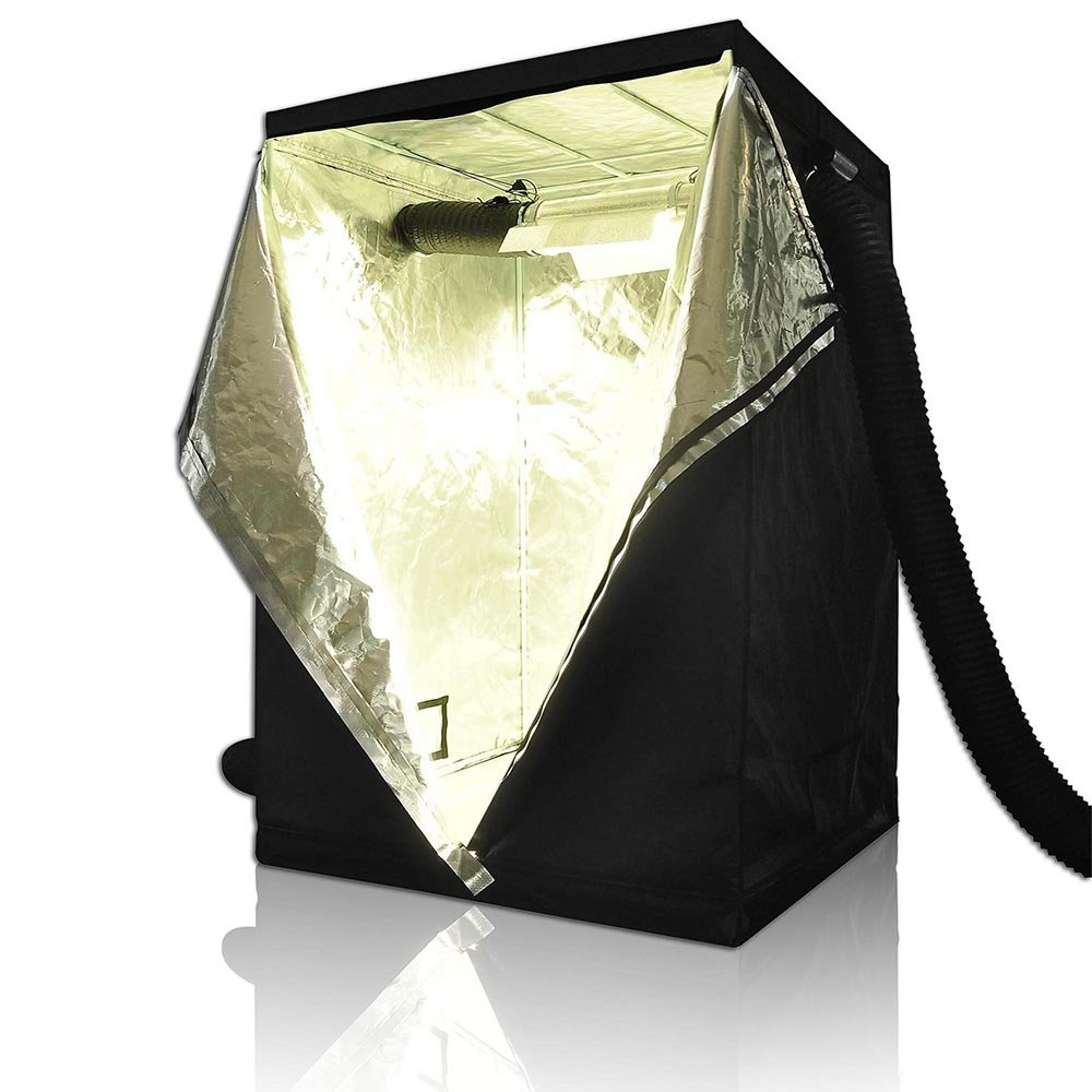 LAGarden 48x48x78 100% Reflective Diamond Mylar Hydroponics Indoor Grow Tent Non Toxic Planting Room 4x4Ft