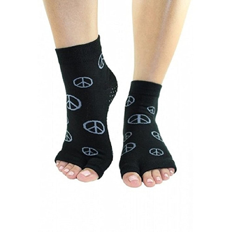 Toezies The Original 1/2 Toe Sock for Yoga/Pilates Peace Sign Open Toe Tabi