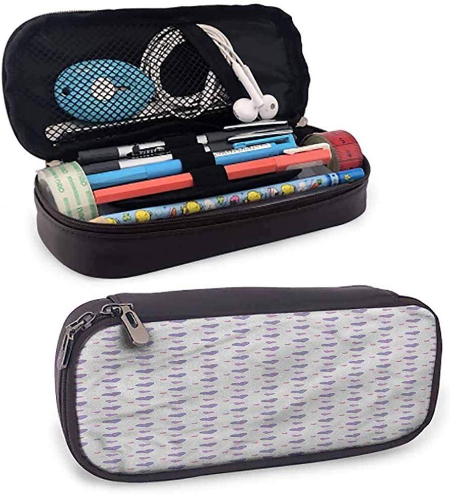 Estuche para lápices para niños Estuche para lápices Icono de amor Corazones de color lila: Amazon.es: Oficina y papelería