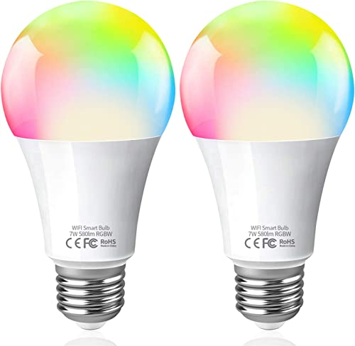 Fitop Smart Light Bulbs, Millions Color Changing Smart Light Bulb No Hub Required, Equivalent 60W Smart Bulb LED that Works with Alexa Google Assistant, Dimmable Smart LED Bulb Smart Bulb WiFi E26 A19